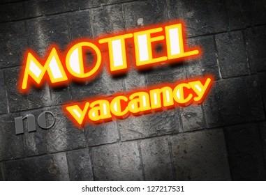 Motel Cottage Inn Motel neon light Sign