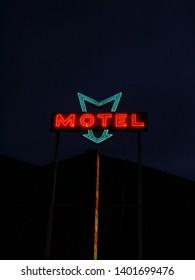 Motel Sign in Night Sky