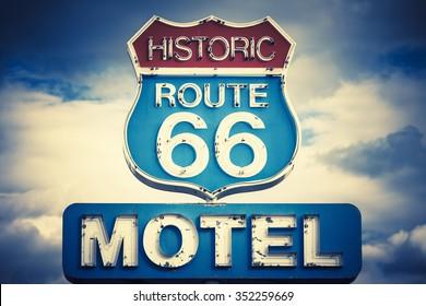 motel spirit in historic 66 road, USA