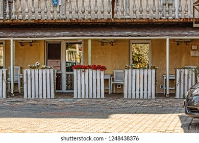 Motel terrace on the highway, tourism