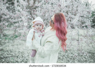 Árbol de flores madre y bebé