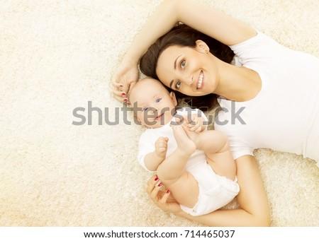 Mother Baby Happy Kid Boy Mom Stockfoto Jetzt Bearbeiten 714465037