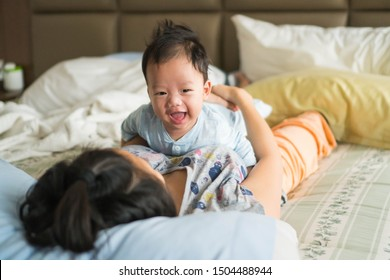 mother and baby having fun on their tummy time