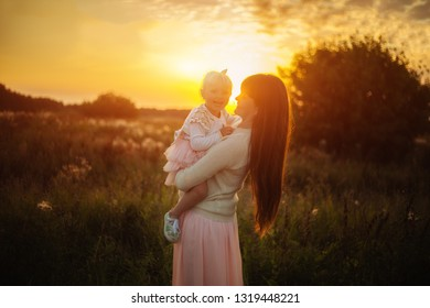 Mother with beautiful daughter