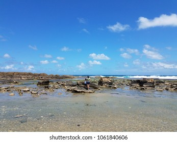 mother and boy child on beach in Isabela Puerto Rico