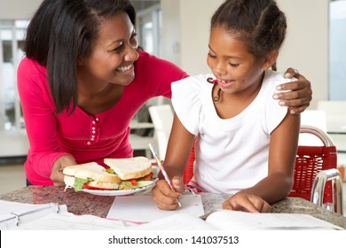 Mother Brings Daughter Sandwich Whilst She Studies