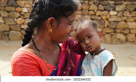 mother & child  Daldali Village Rural India Dhanbad / Jharkhand state of India / at Jharkhand / India clicked on 10 February 2018