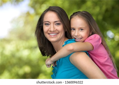Mother & Child on bokeh background