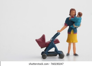 mother with child and stroller