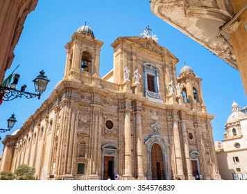 The mother church,  cathedral of Marsala, a town in the province of Trapani in Sicily, Italy