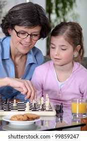 Mother daughter chess match