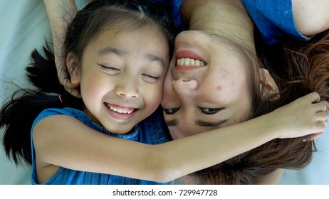 Mother and daughter having time together