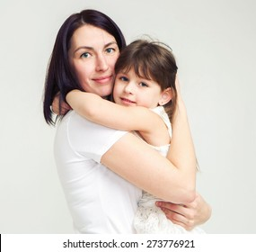 Mother with daughter portrait child
