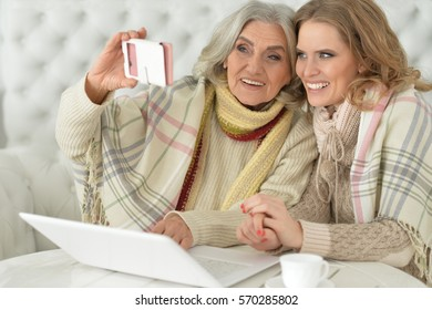 mother and daughter spending time together