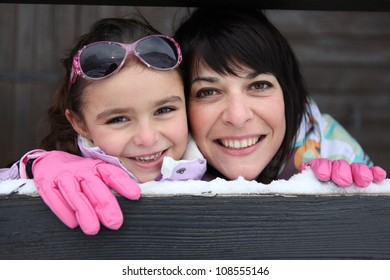 Mother and daughter stood by their ski house