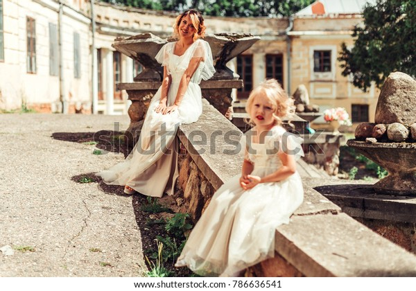 adbc6e0bcd354 Mother Daughter Wedding Dress Have Nice Stock Photo (Edit Now) 786636541