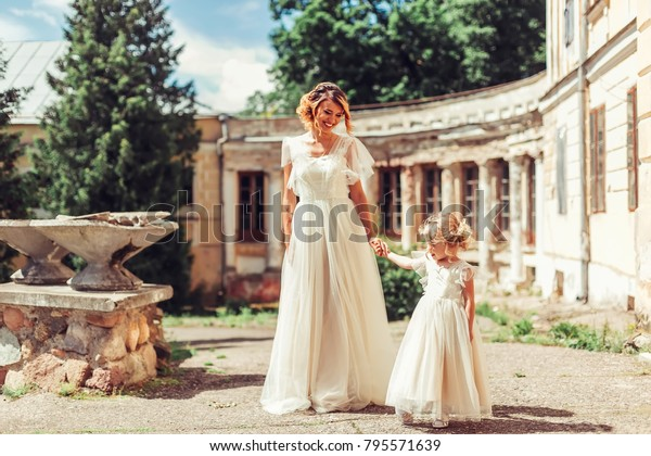 842ae95c7d0d7 Mother Daughter Wedding Dress Have Nice Stock Photo (Edit Now) 795571639