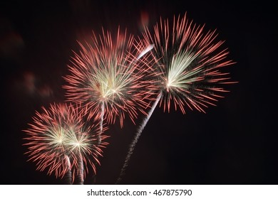 Mother Day of Thailand fire work in 2016, 12th 2016 of Thailand, Fire work 2016