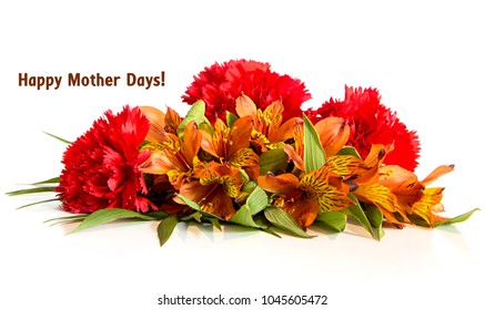 Mother days colored flower bouqet