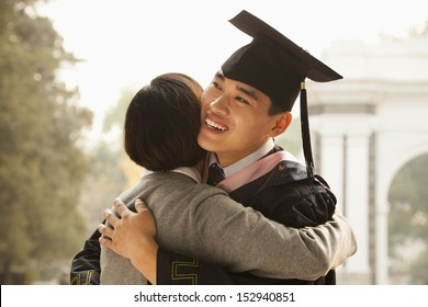 Mother and Graduate Hug