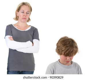 Mother having discipline issues with son
