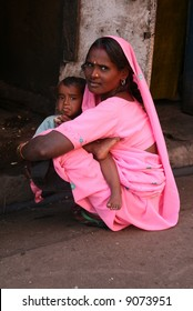 mother and her child india