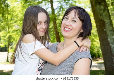 Mother and her daughter love together