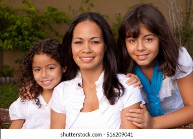 Mother and her daughters.
