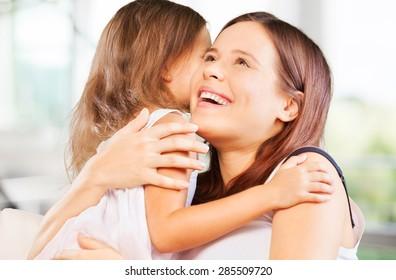 Mother, mom, hugging.