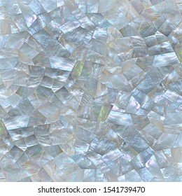 Mother of pearl texture in shattered faceted pattern