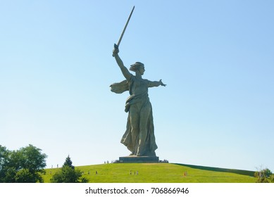 """Mother Russia"" Statue in Volgograd, Russia"