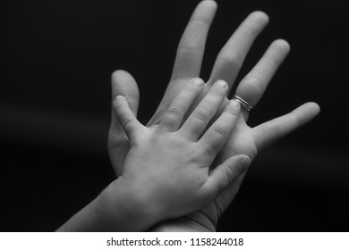 Mother and Son Hands