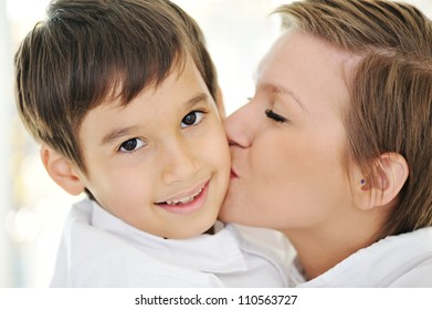 Mother and son with love