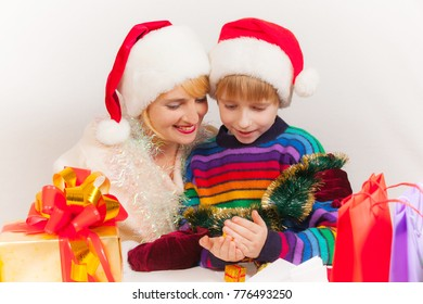 Mother and son prepare for the new year