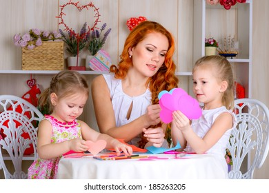Mother  with two girls