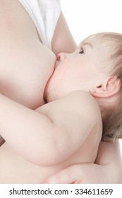 Mother who feed his baby with is breast
