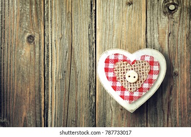 Mothers Day background with wooden heart