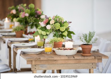 Mothers Day Brunch in white Rustic Barn