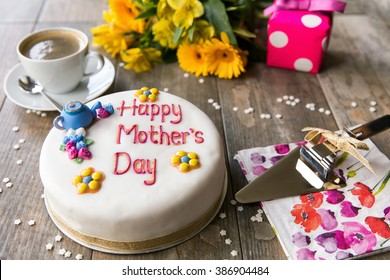 Mothers Day Cake Flowers And Present
