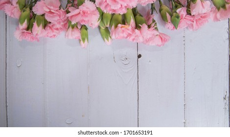 Mother's Day gift with pink carnations