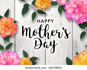happy mothers day vector typography のベクター画像素材