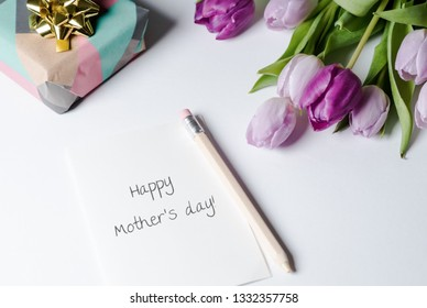 Mother's Day present, card and flowers