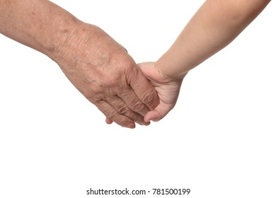 mother's hands with girl hands