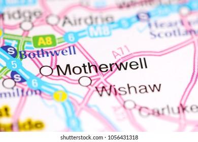 Motherwell. United Kingdom on a map