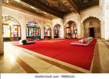 Moti Mahal - The Pearl Palace, Mehrangarh Fort, Jaiput, Rajasthan, India