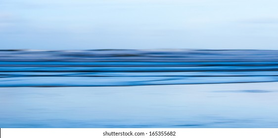 Motion Blur Abstract Seascape Panorama