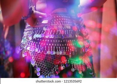 Motion Blur Belly Dancer Close-up