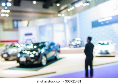 motion blur and blurry of motor show.
