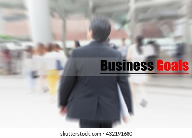 motion blur businessman walking to work, business goal, business management concept