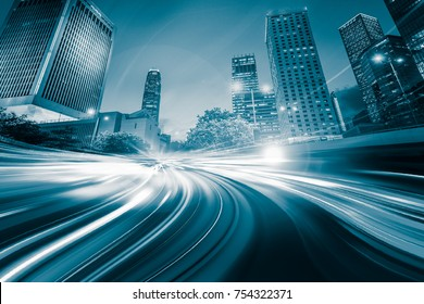 Motion Blur City in Monochrome color tone